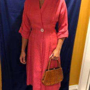 Vintage coral/pink unlined dress coat